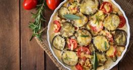Auberginen Tomaten Käse Gratin Rezept