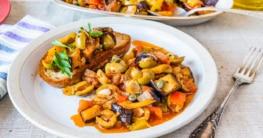 Caponata siciliana - Süßsaures Auberginengemüse