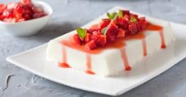 Panna Cotta mit Erdbeeren Rezept