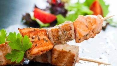 Gegrillte Fischspieße