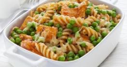 Pasta mit Lachs und Erbsen Rezept