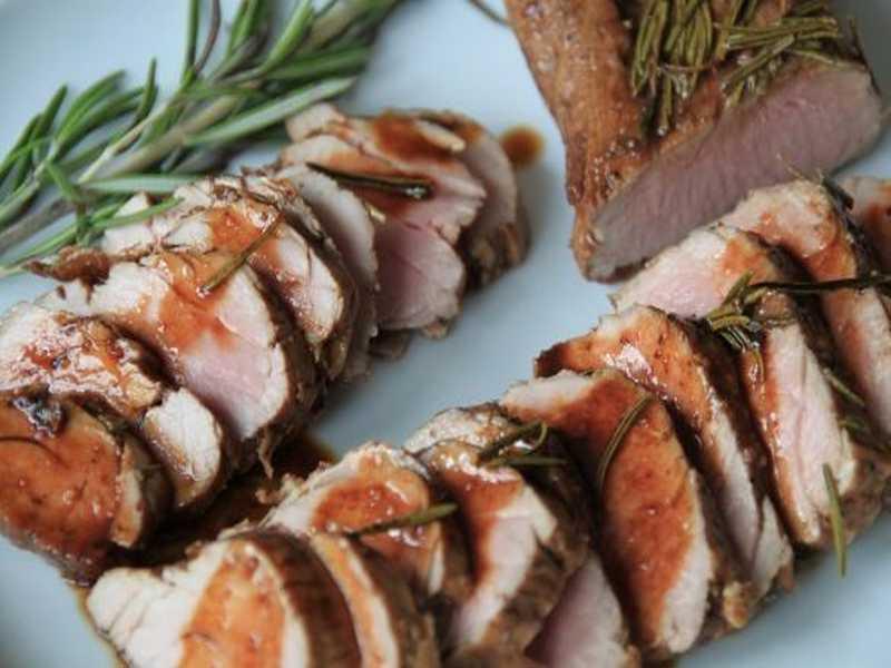 Schweinefilet mit Rosmarin und Balsamico