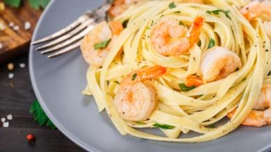 Tagliatelle mit Shrimps